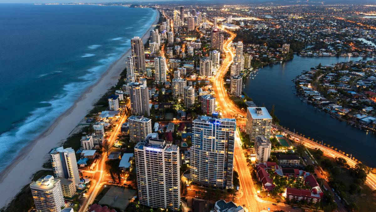 The strip between the Gold Coast Highway and the Esplanade is the heart of Surfers Paradise. Picture: Supplied