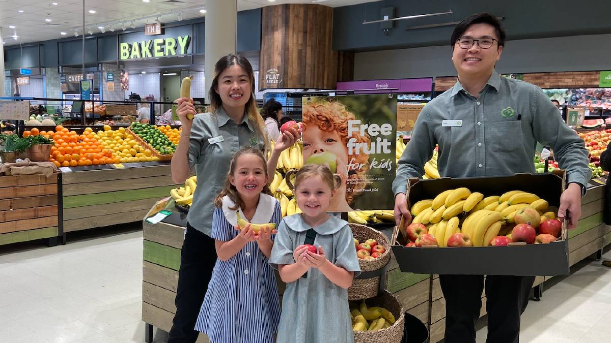 The Woolworths national initiative is encouraging school children to eat more fruit.