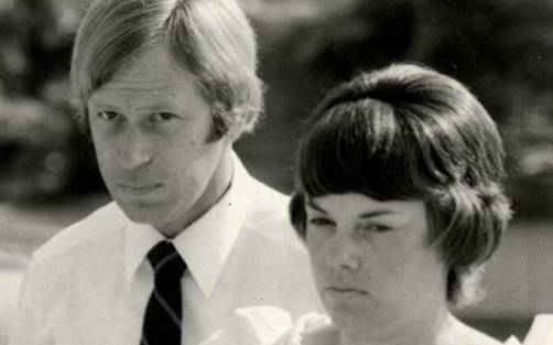 FLASHBACK: Michael and Lindy Chamberlain attend court in Darwin.