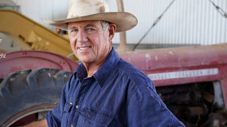Julia Creek grazier Mark Bryant is on the front page of the Summit Report.