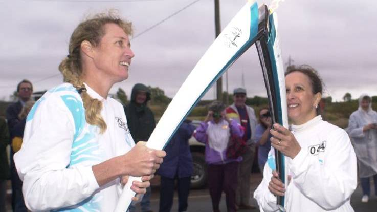 The 2000 Sydney Olympics torch relay in Mount Isa.