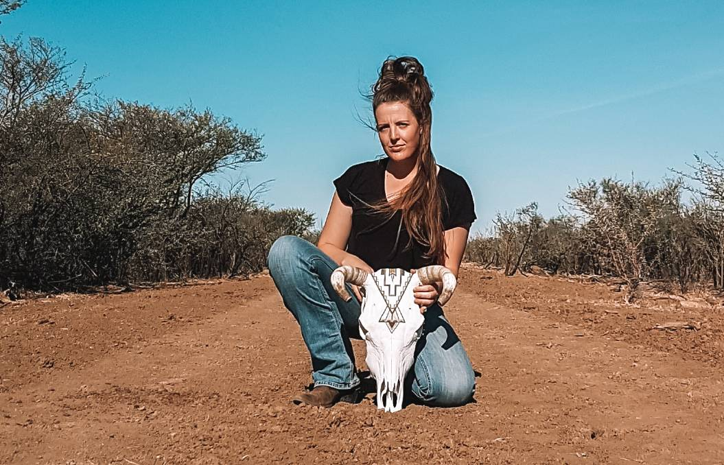 Leanne Reeves learned the art of skull painting at home in rural New South Wales and is now bringing it to North West Qld.