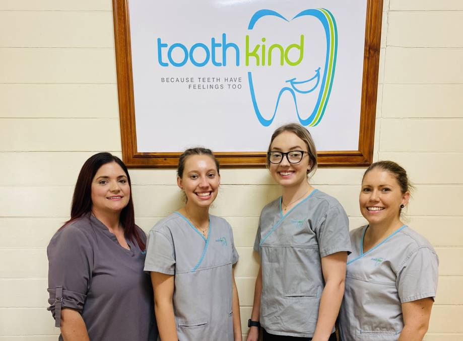Ready to help: Toothkind Jimboomba staff, from left, Rosi, Isabelle, Zoe and Natalie.