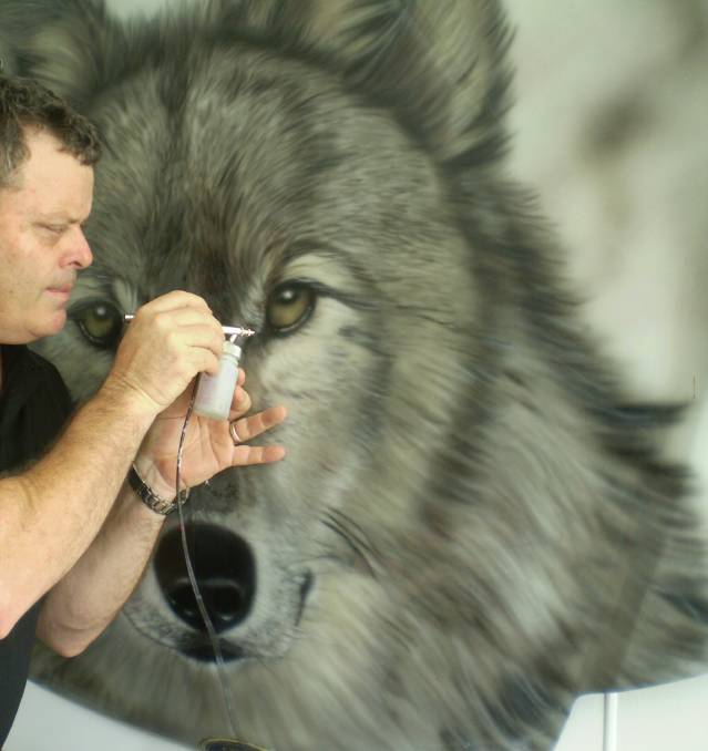 NO LIMITS TO AIRBRUSH EFFECTS: Air Icons owner Glenn Crotty will visit Mount Isa later this month to teach aspiring artists how to create beautiful works of art with an air brush.